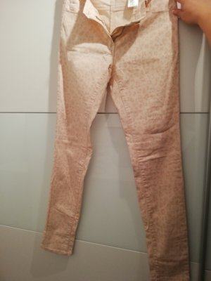 Hose Jeans Rosa Leomuster