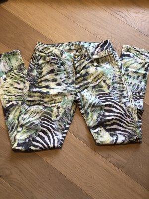 Hose Jeans Skinny stretchig gemustert Gr. 40