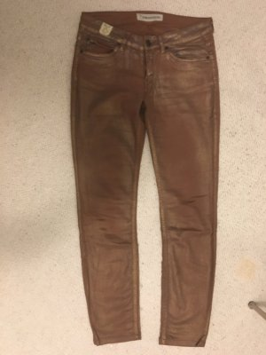 Drykorn Five-Pocket Trousers bronze-colored cotton