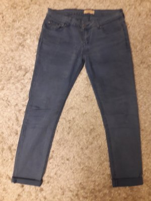 Cross Pantalone a vita bassa blu neon Cotone