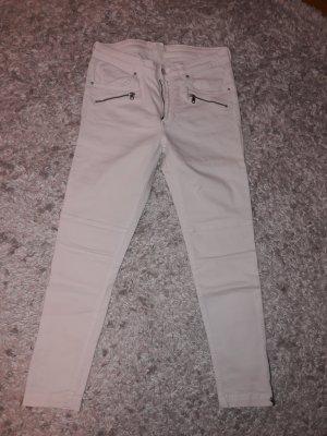 H&M Jeansy 7/8 biały