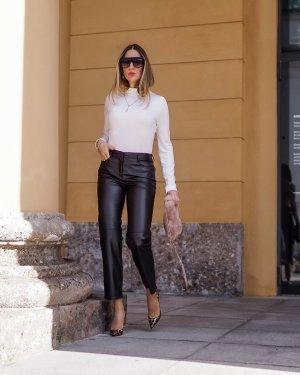 Toni Fashion Pantalón de cuero marrón oscuro-marrón-negro