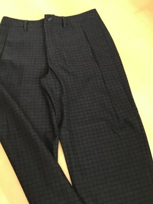 Closed Pantalón de cintura alta marrón-negro Lana