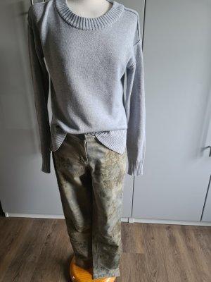 Vivance Pantalone a vita alta grigio-cachi