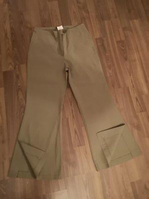 Spodnie 7/8 khaki Poliester