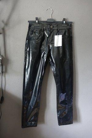 Asos Denim Pantalón de cuero negro tejido mezclado