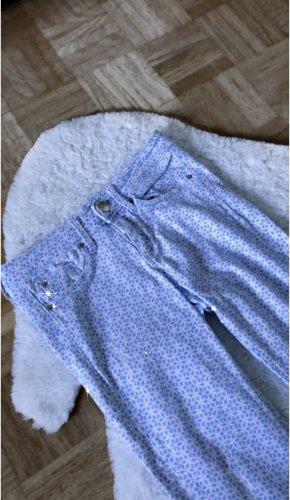 Hose lange hose jeans blau weiß muster blue sommer