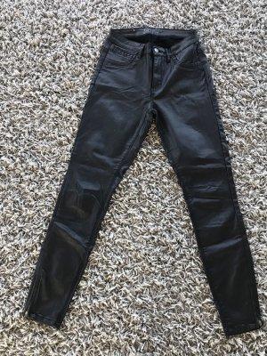 Hose Leder schwarz Only