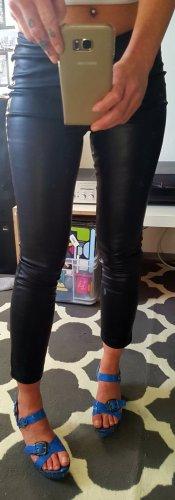 Topshop Pantalon en cuir noir