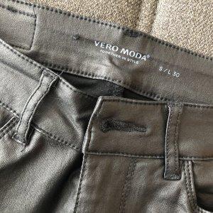 Vero Moda Leren broek zwart