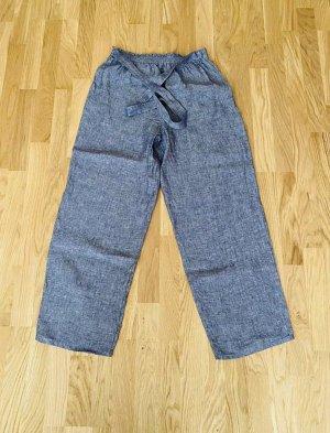 Pantalon en lin gris ardoise
