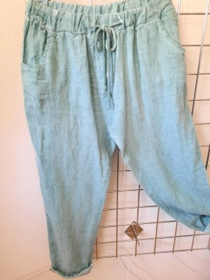 Made in Italy Linen Pants turquoise