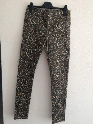 Vero Moda Spodnie rurki ciemny żółty-czarny Bawełna