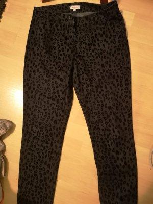 Pantalon fuselé noir-gris foncé