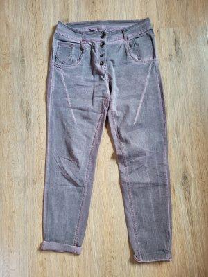 Made in Italy Pantalon cargo mauve