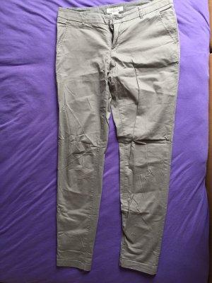 H&M L.O.G.G. Lage taille broek grijs-groen