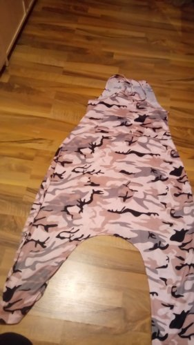 Pantalon large rose clair