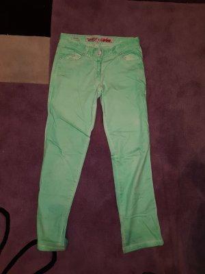 Million X Jeansowe spodnie dzwony bladozielony-miętowy