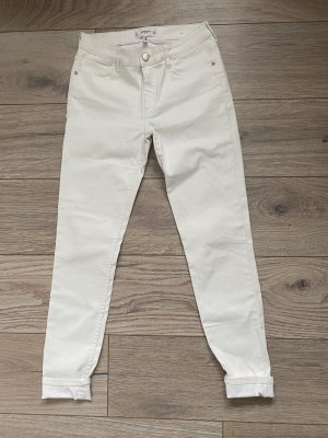 Mango Denim & Tees Leather Trousers white-natural white