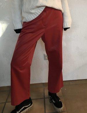 Marc Aurel Falda pantalón de pernera ancha rojo oscuro