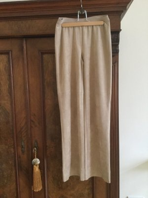 Marc Cain Leather Trousers camel polyester
