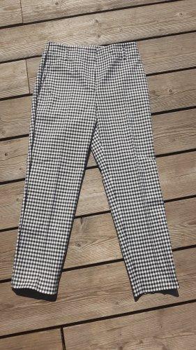 Marc Cain Stretch Trousers white-black cotton