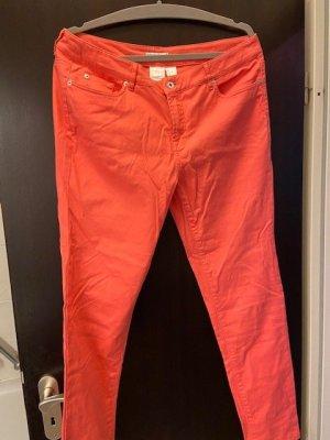 Marie Lund Pantalon cinq poches abricot coton
