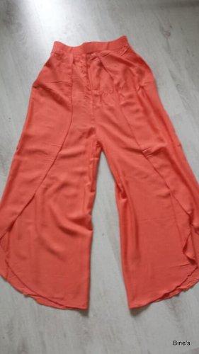 Aus Indien Spodnie Marlena pomarańczowy neonowy-ciemny pomarańcz Bawełna
