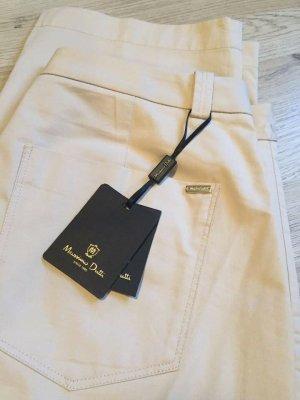 Massimo Dutti Pantalon en jersey beige clair
