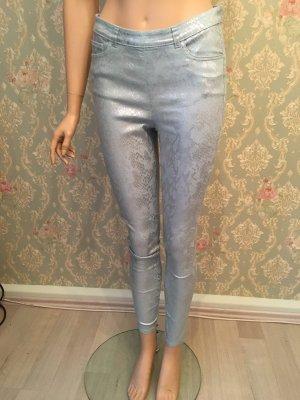 H&M Lage taille broek zilver-munt
