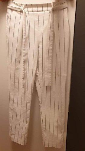 Orsay Pantalone a 7/8 bianco-nero Poliestere