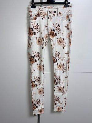 Pantalone elasticizzato bianco