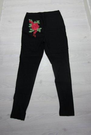 Hose mit Blumen leicht high waist
