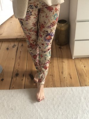 Zara Low-Rise Trousers multicolored