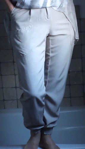 Hose mit Bündchen, helles taupe, beige, leichter Stoff aus 78% Lyocell (Viskosefaser)
