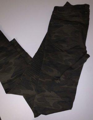 Zara Basic pantalón de cintura baja gris verdoso-taupe