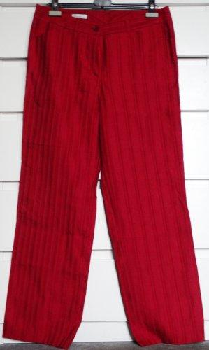 Savannah Spodnie Marlena czerwony-ciemnoczerwony Tkanina z mieszanych włókien