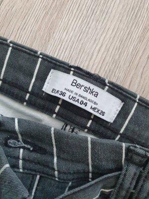 Bershka Spodnie z zakładkami Wielokolorowy