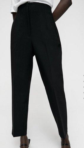 Hose mit hohem Bund Schwarz Zara