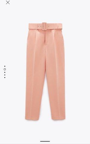 Zara Pantalon à pinces abricot
