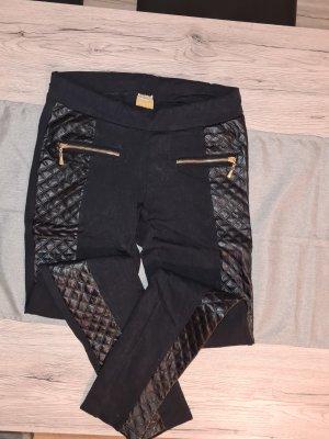 andere Marke Pantalon en cuir gris anthracite