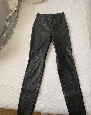 H&M Pantalone in pelle nero