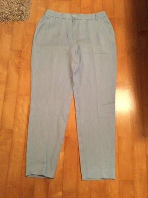 Esprit Pantalón de lino azul celeste