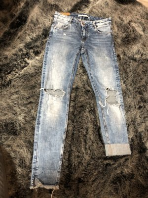 Zara Trafaluc Jeans taille basse bleu