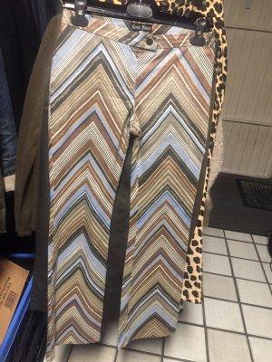 Pantalón de campana multicolor