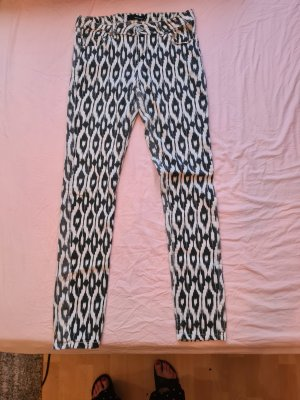 Tally Weijl Pantalon cigarette blanc-noir