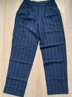 Massimo Dutti 7/8 Length Trousers dark blue-grey