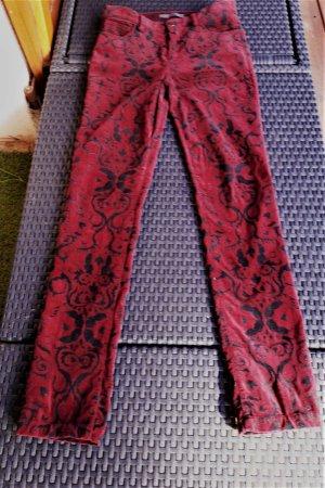 FFC Pleated Trousers black-bordeaux cotton