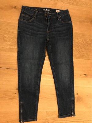 Charles Vögele Pantalon taille basse bleu