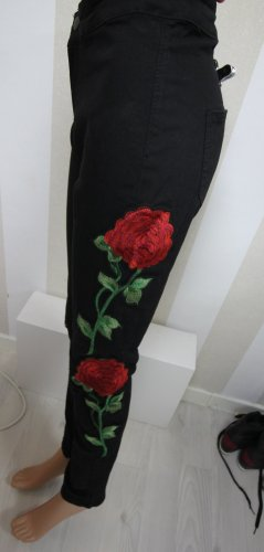 Drainpipe Trousers black-red